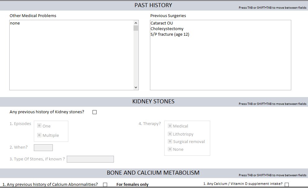 Kidney Stone Checking
